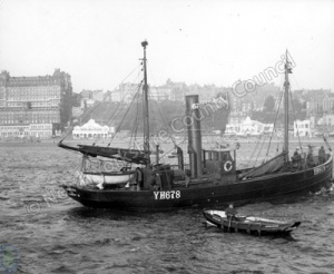 Steam Trawler in South Bay, Scarborough
